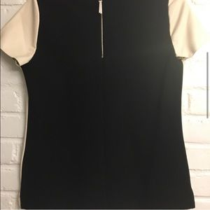 Ann Taylor Tops - Ann Taylor Faux Leather Front, Black Back, size SP